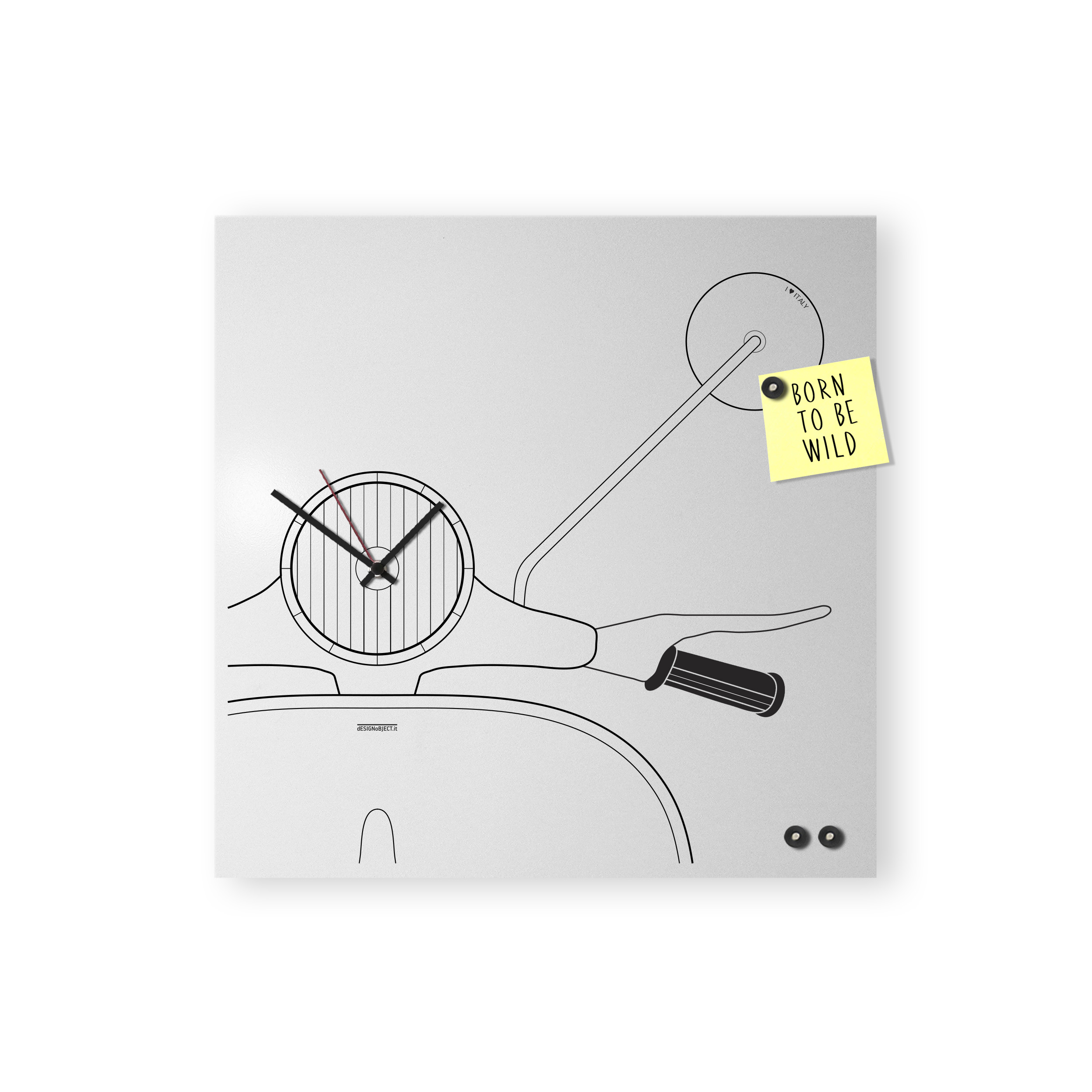 Scooter clock white magnets mood