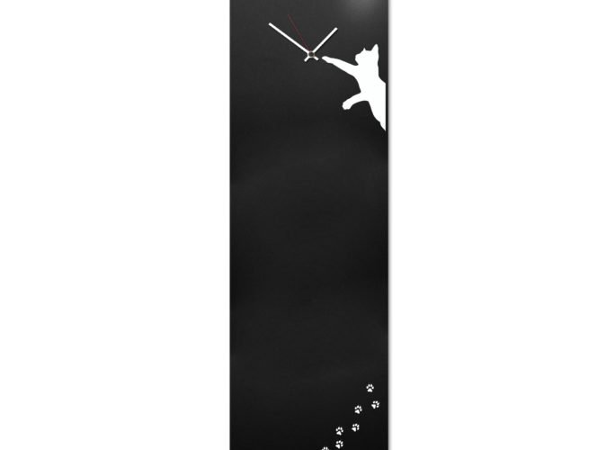 magnetic board cat clock black