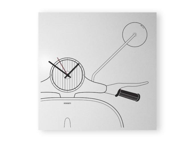 vespa design clock white