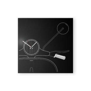 vespa italy design clock black