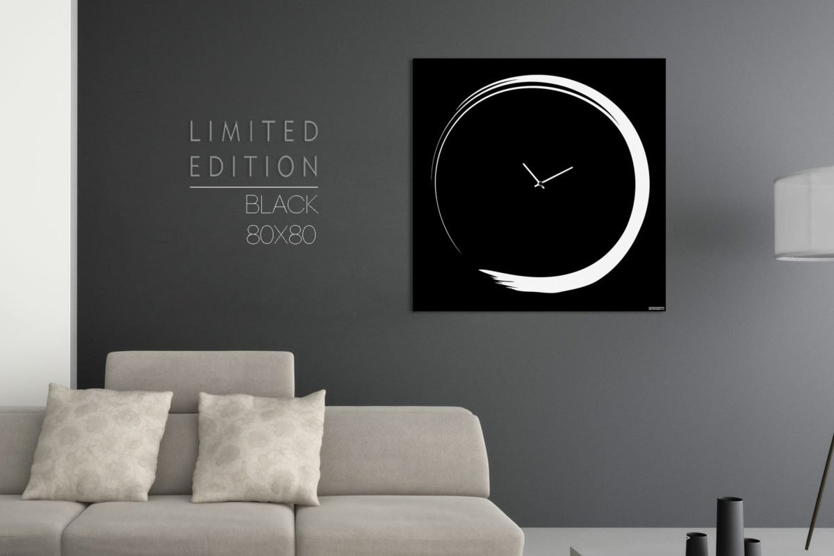 Orologio-Design-Grande-Moderno-Elegante-Nero-Wall-Clock-Black