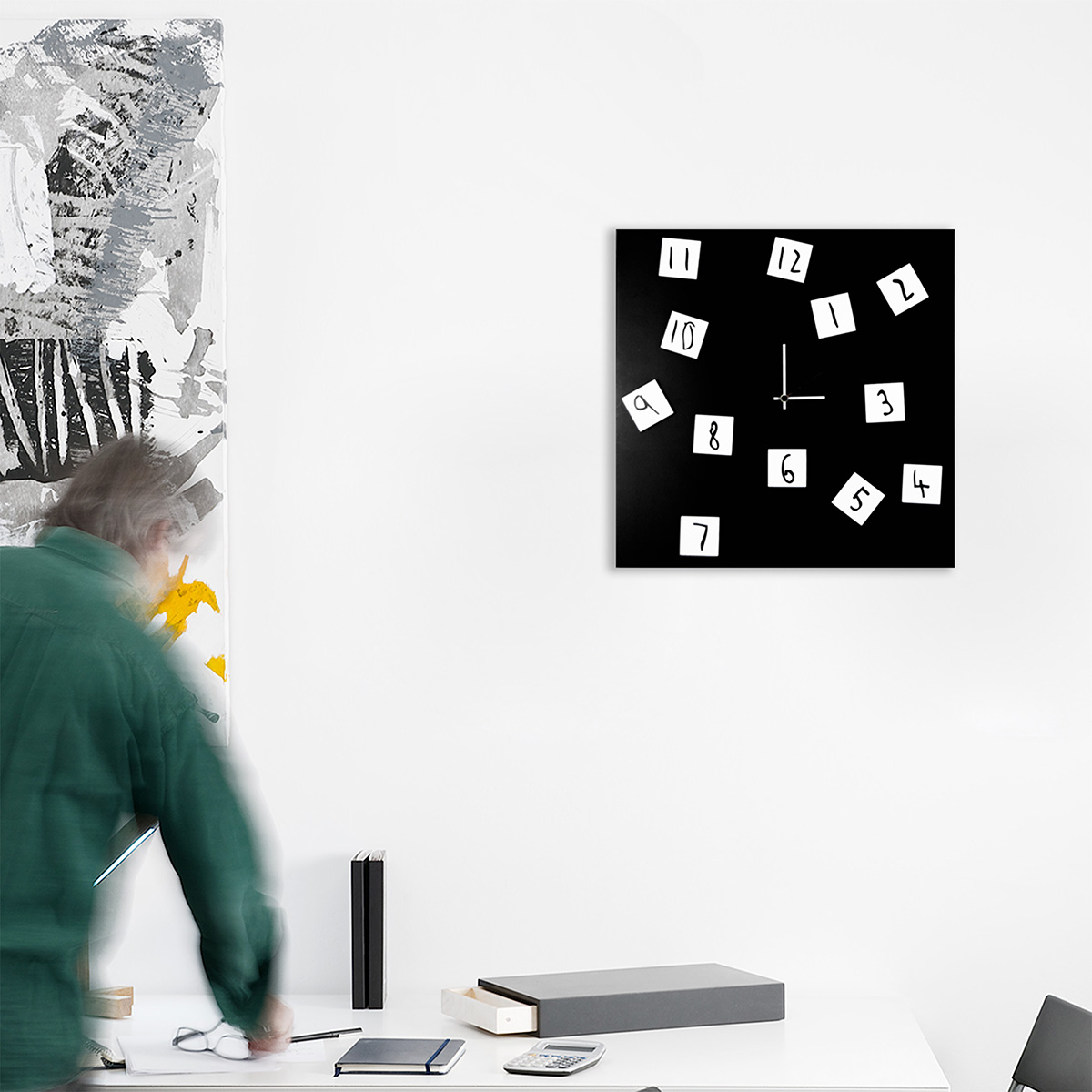 Changing clock orologio da parete di design designobject - Orologio design parete ...