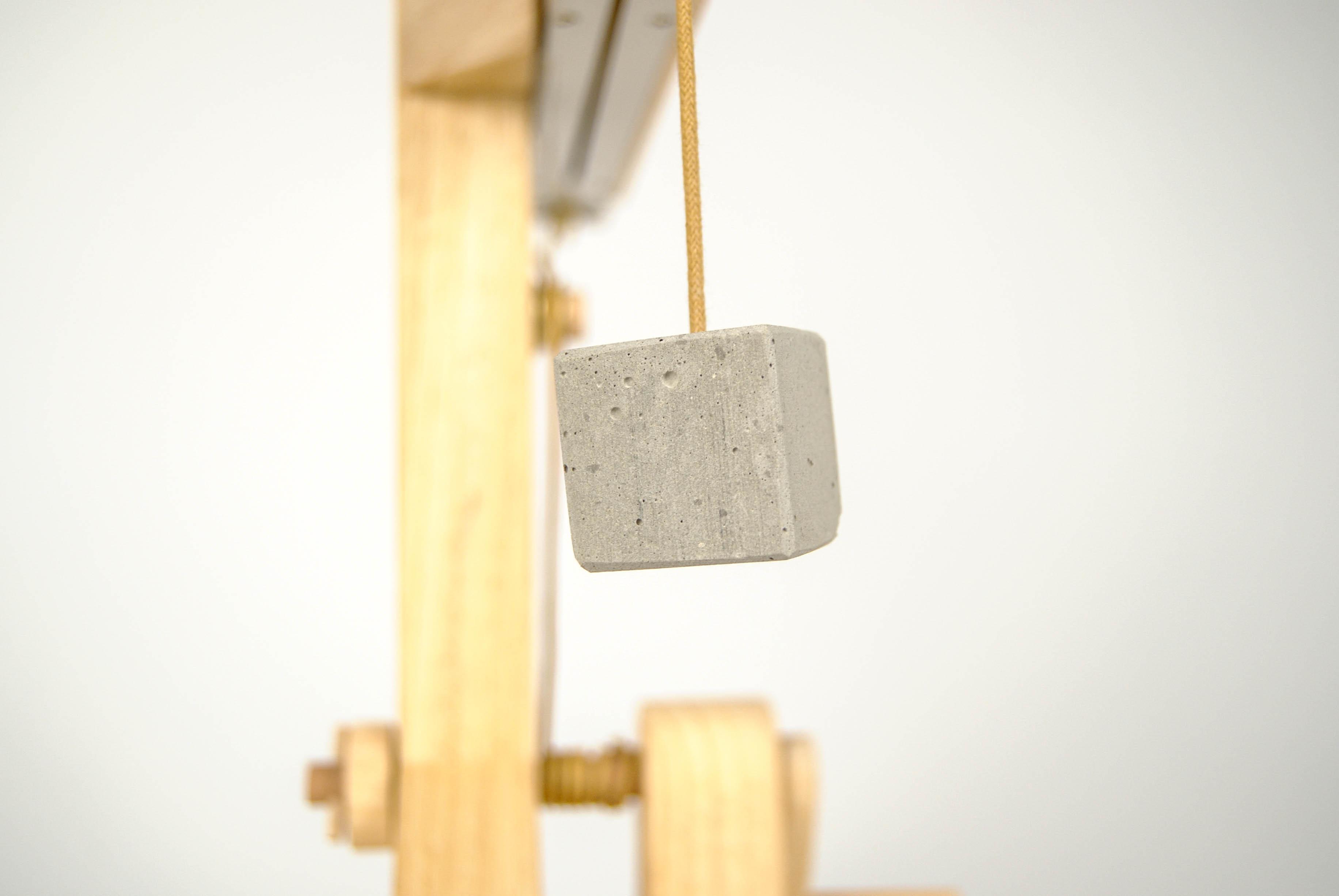leonardo da vinci wooden calendar with wire and stone for the date