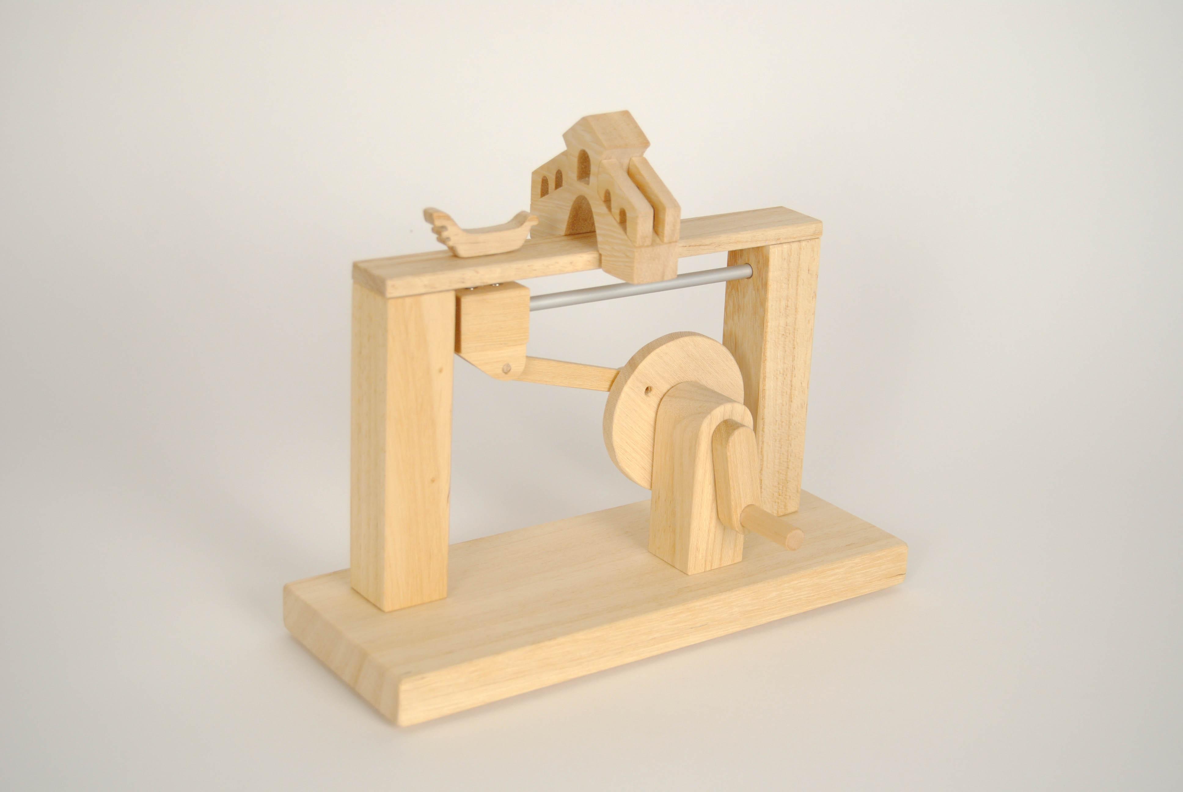 leonardo da vinci magnetic wooden toy with boat and the bridge in venice