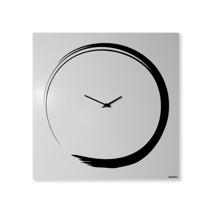 S enso modern big wall clock italian design designobject for Orologio da parete invotis