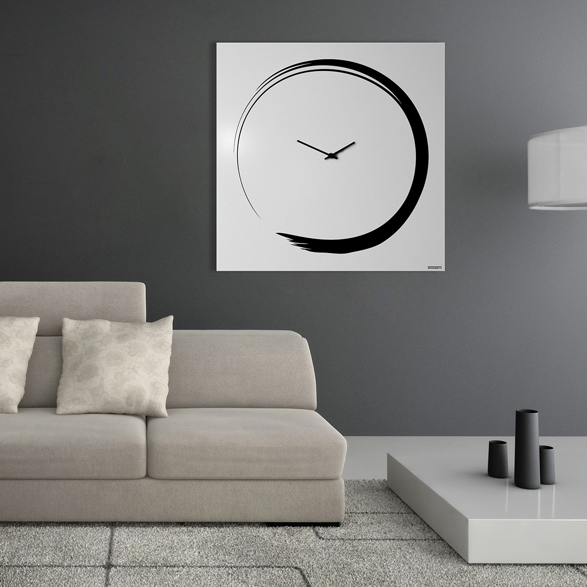 Orologio Parete Design Calligrafia Wall Clock Mood Enso
