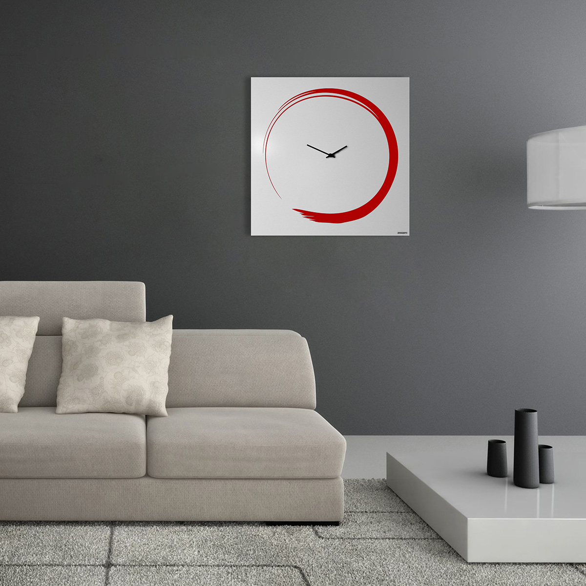 S enso modern big wall clock italian design designobject for Orologi a parete design