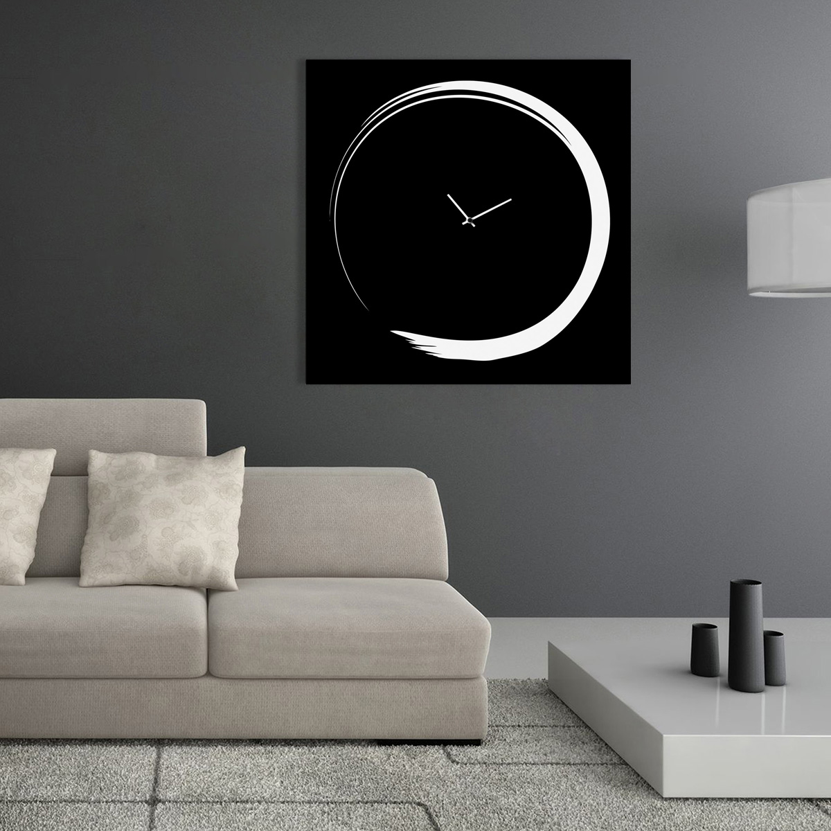 S enso modern big wall clock italian design designobject for Complementi arredo design