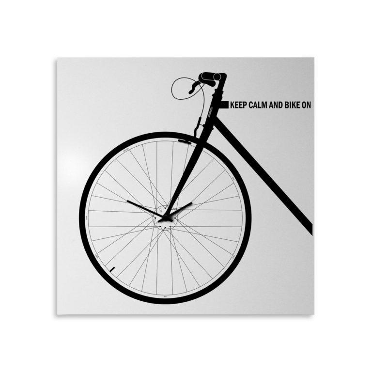 Bike: modern, big wall clock. Italian Design