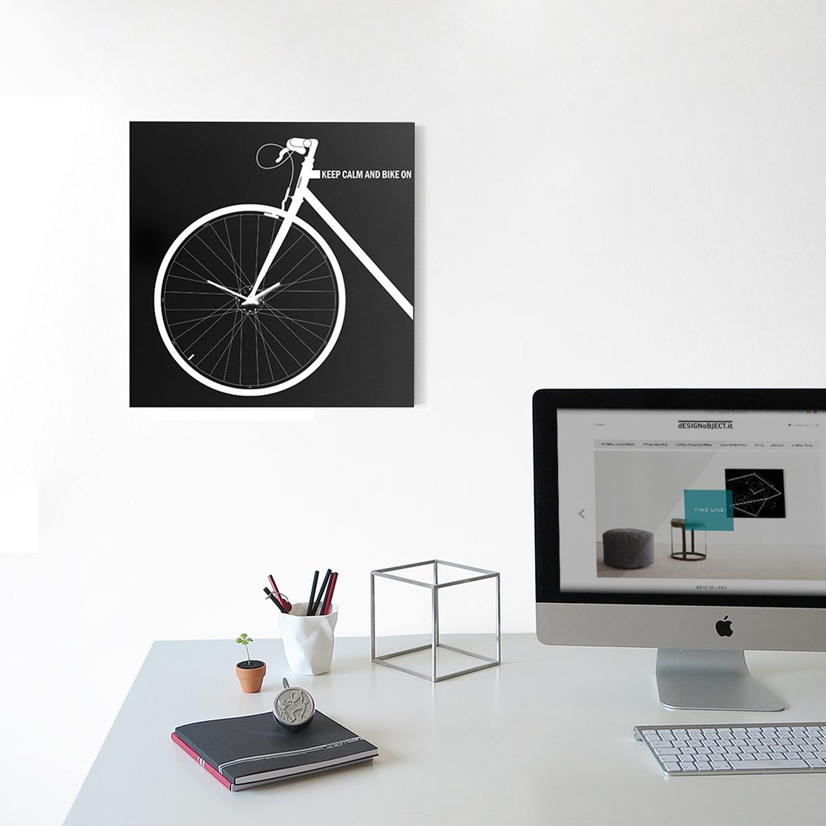 Orologio di design da parete bike designobject - Orologio design parete ...
