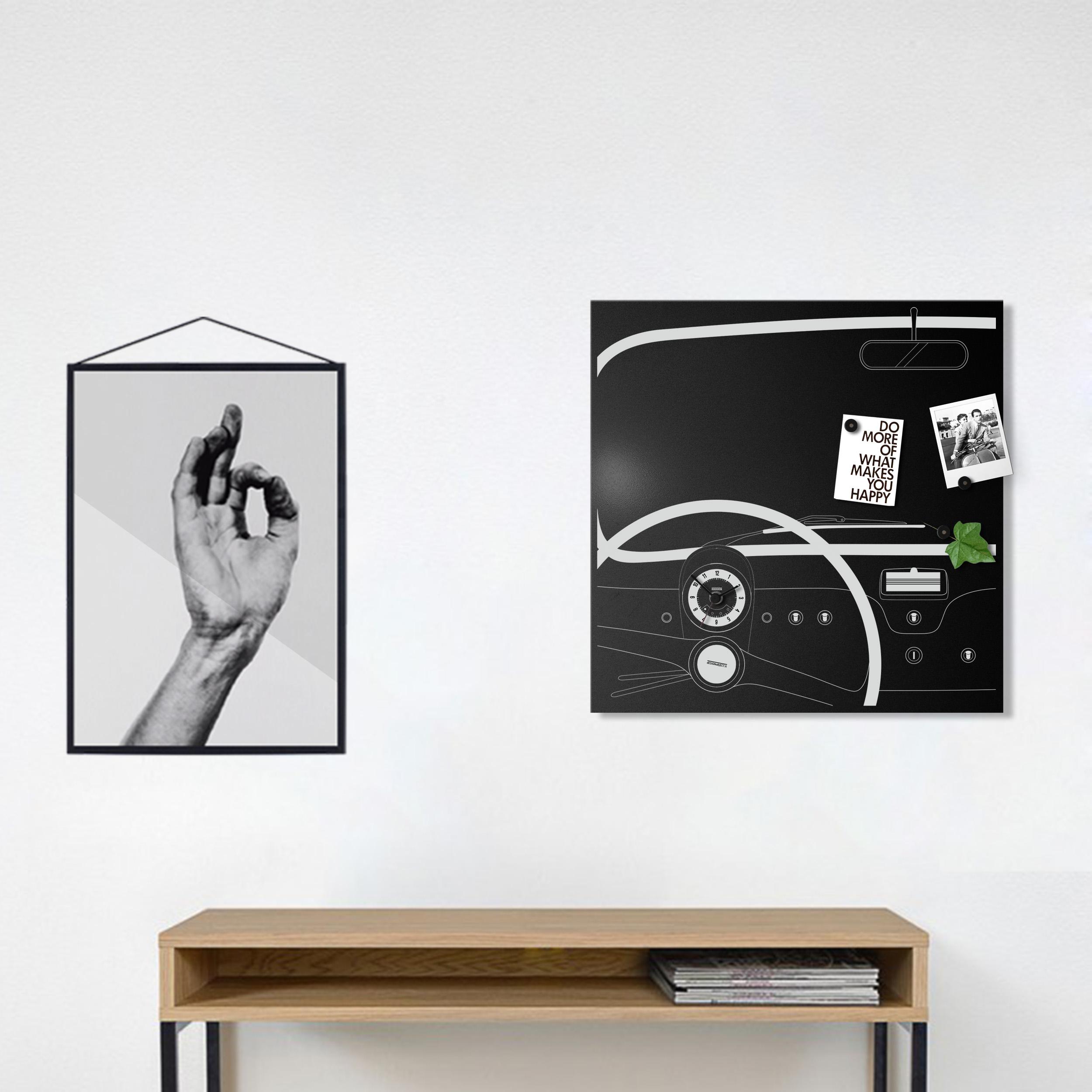 Cinquino orologio da parete di design lavagna magnetica for Lavagna con orologio thun