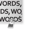 WORDS Lavagna magnetica di Design - Portafoto