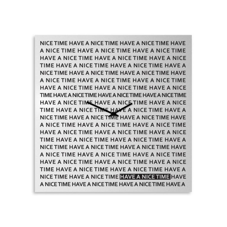 NICE TIME Orologio da parete - Lavagna magnetica Design