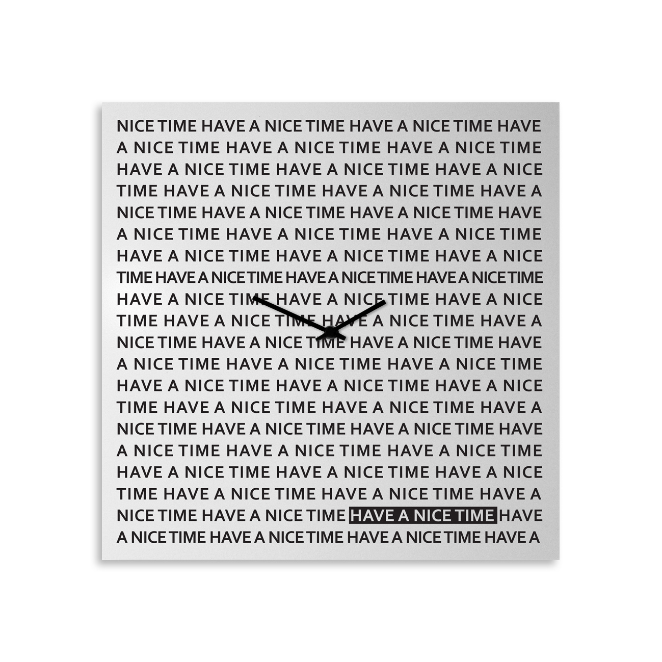 Nice time: modern, big wall clock. Italian Design