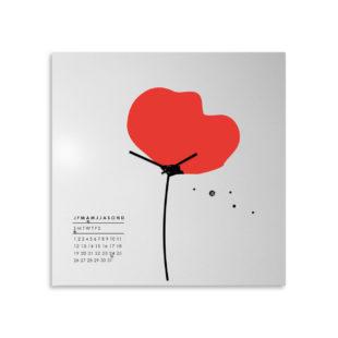 orologio-parete-design-calendario-perpetuo-wall-clock-perpetual-calendar-papavero