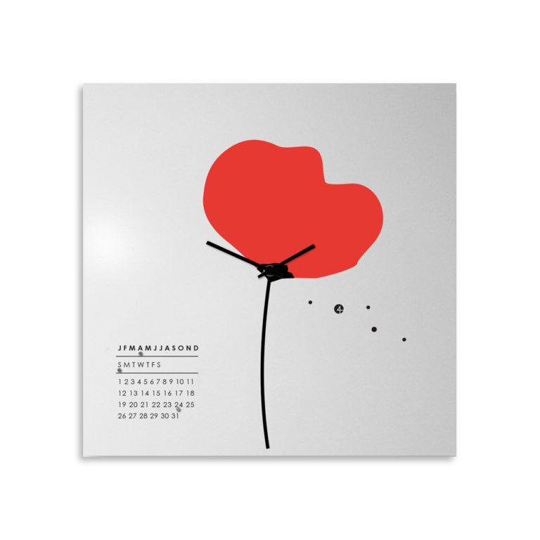 Poppy: modern, big wall clock. Italian Design