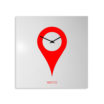orologio-parete-minimal-design-wall-clock-you-are-here-white-red