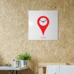 orologio-parete-minimal-design-wall-clock-youarehere-white-red-mood
