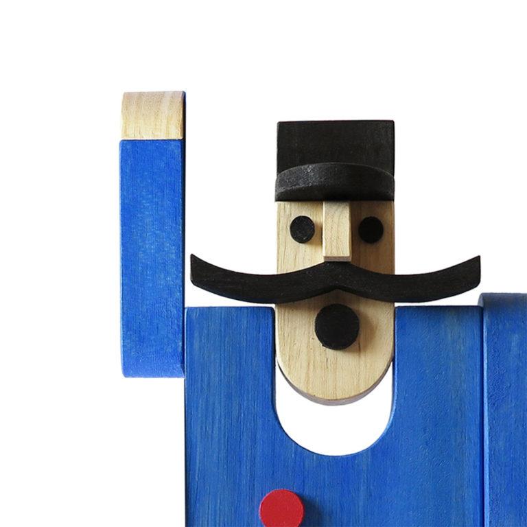 Giocattolo in legno Capostazione Depero