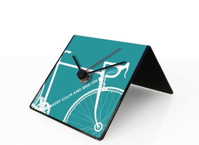 Bike clock azure