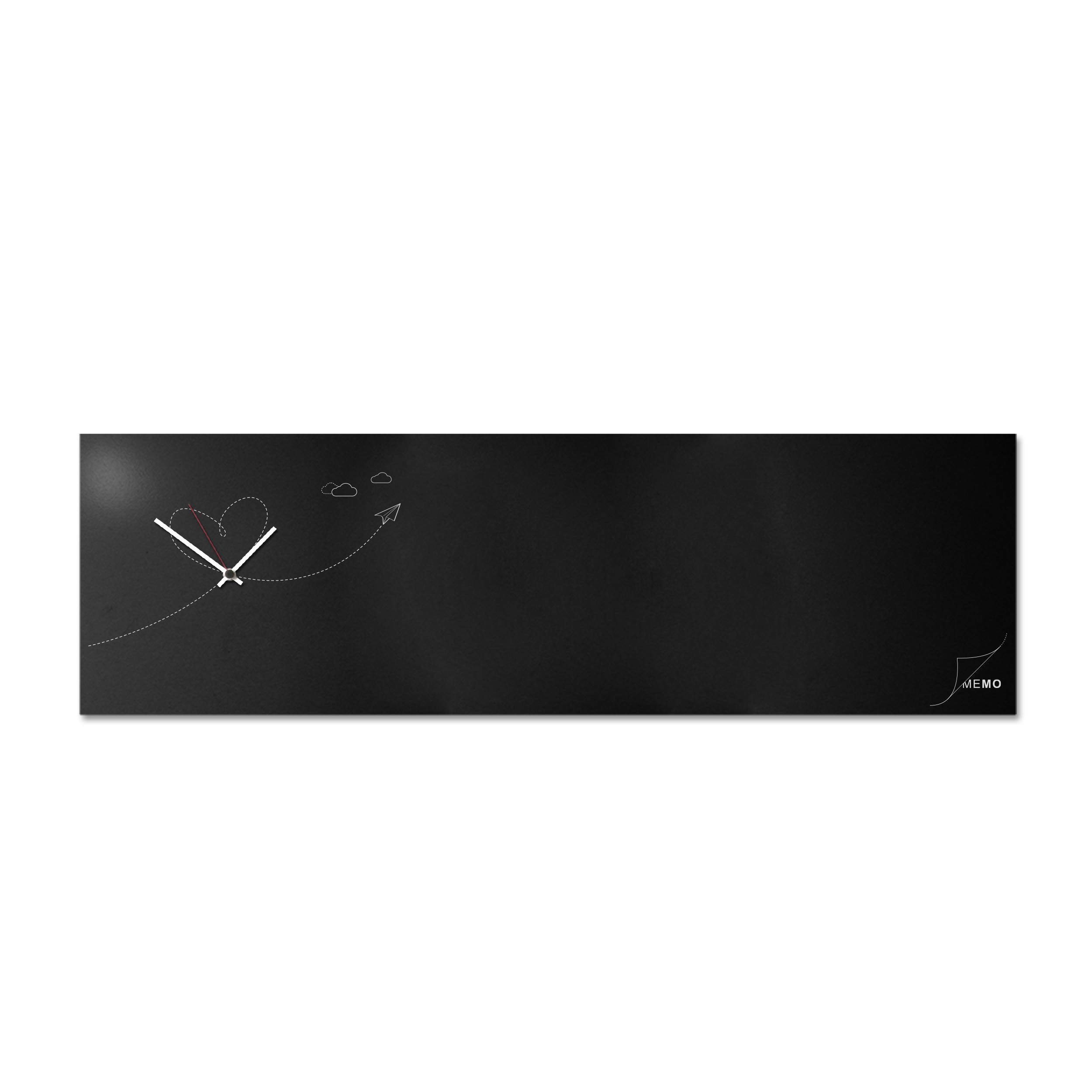 Paper plane: modern, big wall clock. Italian Design