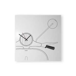 vespa design clock white