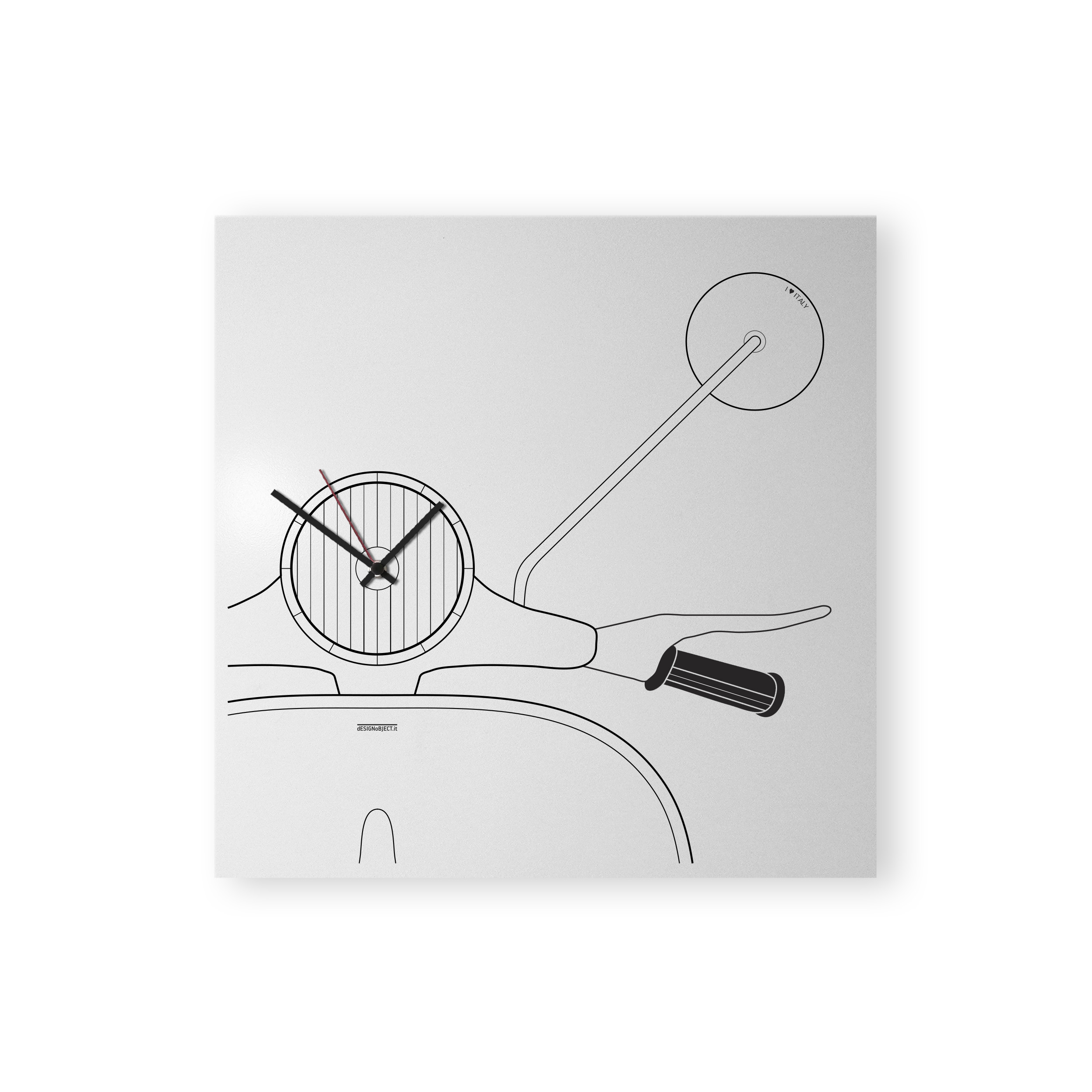 Vespa: modern, big wall clock. Italian Design