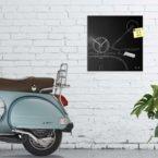 vintage design clock scooter