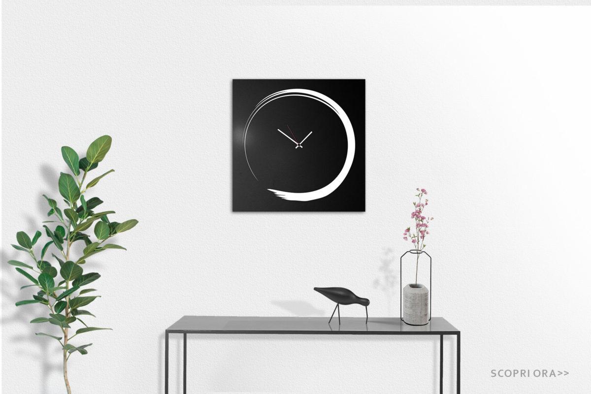 orologio da parete elegante nero in metallo