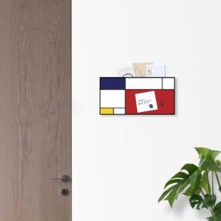 portalettere organizer da parete di design Mondrian