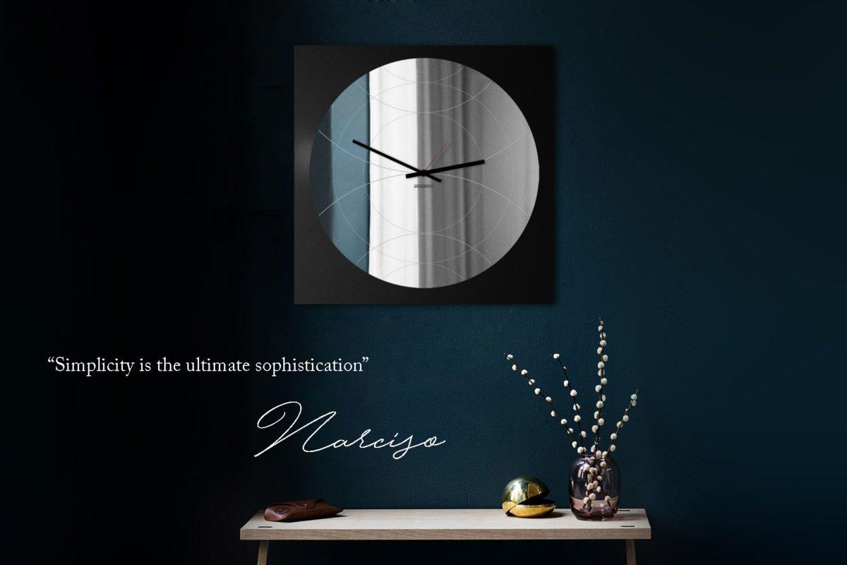 orologio specchio di design nero designobject