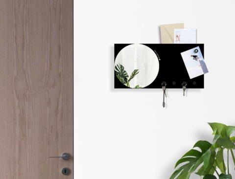 specchio da parete rettangolare design moderno con portachiavi lavagna magnetica organizer da muro wall mirror key holder